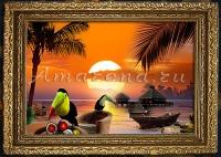Пейзаж с туканами