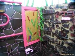 Интерьер ванной. Роспись стен